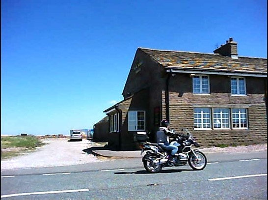 Bike Passes Cat and Fiddle